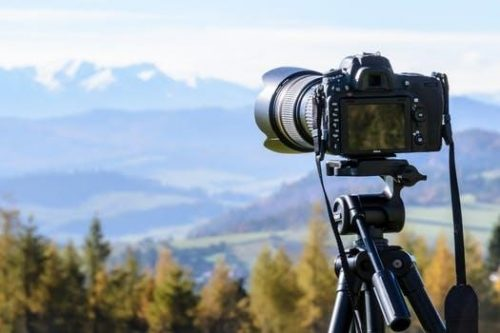 taking a photo of the mountains and trees. Photography would really make you see the beauty around you